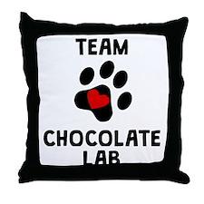 Team Chocolate Lab Throw Pillow