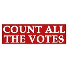 Count All The Votes (bumper sticker)