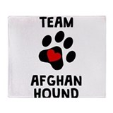 Afghan hound Fleece Blankets
