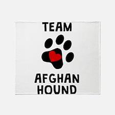 Team Afghan Hound Throw Blanket