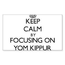 Keep Calm by focusing on Yom Kippur Decal