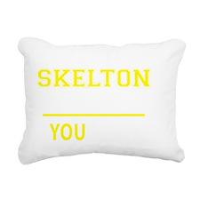 Unique Skelton Rectangular Canvas Pillow