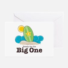 Ready For The Big One Beach Surf Blank Cards 10pk