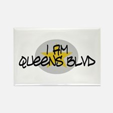 I am Queens Blvd 2 - Gold Rectangle Magnet