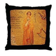 St Cecilia Throw Pillow