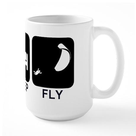 Paraglider Eat Sleep Fly Large Mug