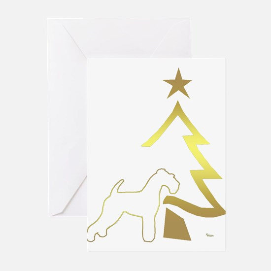 Cute Kerry blue terrier Greeting Cards (Pk of 10)