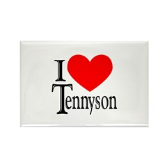 I Love Tennyson Rectangle Magnet
