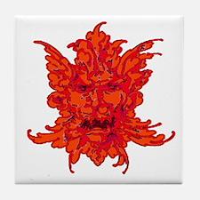 Creepy Gargoyle Tile Coaster