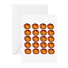 Halloween Jack o Lanterns Greeting Cards (Package
