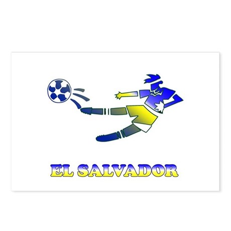 El Salvador Soccer Player Postcards (Package of 8)