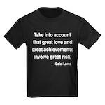 Dalai Lama Text 7 Kids Dark T-Shirt