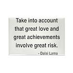 Dalai Lama Text 7 Rectangle Magnet (100 pack)