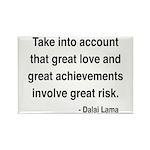 Dalai Lama Text 7 Rectangle Magnet