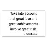 Dalai Lama Text 7 Rectangle Sticker