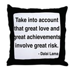 Dalai Lama Text 7 Throw Pillow