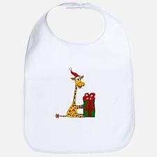 Christmas Giraffe Bib