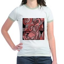 Pink Elephant Abstract T-Shirt