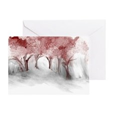 Cranberry Trees Greeting Card