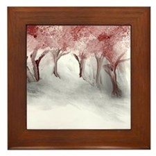 Cranberry Trees Framed Tile