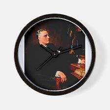 franklin d roosevelt Wall Clock