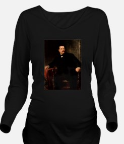 grover cleveland Long Sleeve Maternity T-Shirt