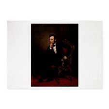 abe lincoln 5'x7'Area Rug