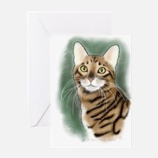 Toyger Head Greeting Cards