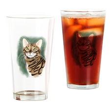 Toyger Head Drinking Glass