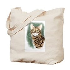Toyger Head Tote Bag