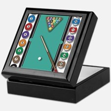 Billiards Keepsake Box