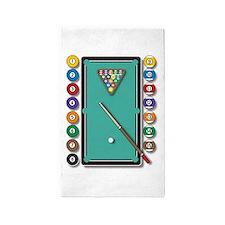 Billiards 3'x5' Area Rug