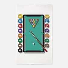 Billiards 3'x5' Area Rug