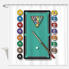 Billiards Shower Curtain