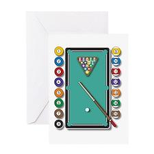 Billiards Greeting Cards