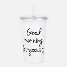 Good Morning Acrylic Double-wall Tumbler