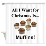 Christmas Muffins Shower Curtain