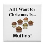 Christmas Muffins Tile Coaster