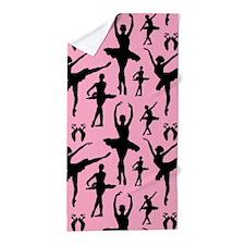 Ballerina Silhouette Beach Towel