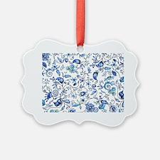 Blue Floral Ornament