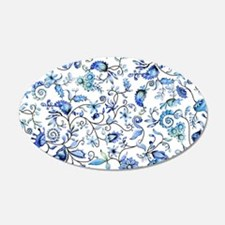 Blue Floral Wall Decal