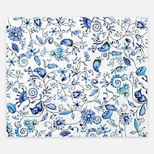 Blue Floral King Duvet