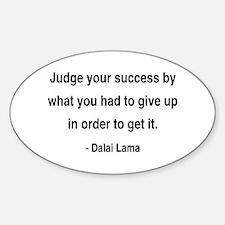 Dalai Lama 8 Oval Decal