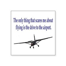 "Cute Usaf Square Sticker 3"" x 3"""