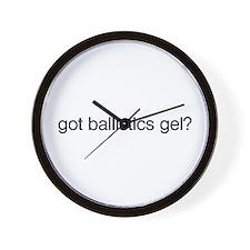 Got Ballistics Gel? Wall Clock