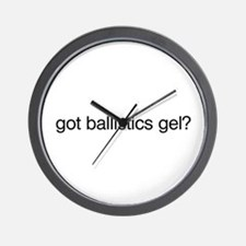 Got Ballistics Gel? Wall Clock