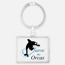 Save The Orcas Keychains