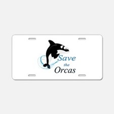 Save The Orcas Aluminum License Plate