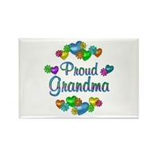Proud Grandma Rectangle Magnet