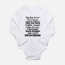 Big Rig Drivin' Long Sleeve Infant Bodysuit